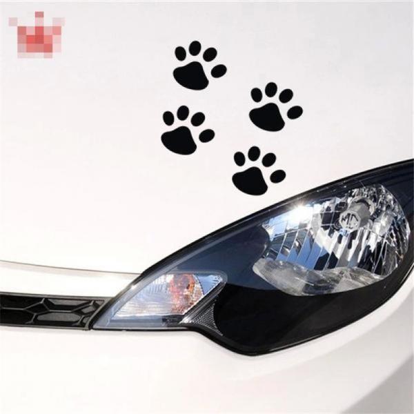バイク用品 Newbee 4 ピース Hond 猫デカール子犬爪車の自動車ステッカー犬フットプリントフートためプリントオートバイスタイリングパンダ足バンパードア gioiore 02