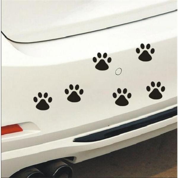 バイク用品 Newbee 4 ピース Hond 猫デカール子犬爪車の自動車ステッカー犬フットプリントフートためプリントオートバイスタイリングパンダ足バンパードア gioiore 03