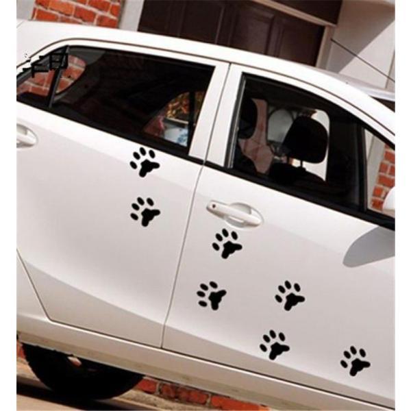 バイク用品 Newbee 4 ピース Hond 猫デカール子犬爪車の自動車ステッカー犬フットプリントフートためプリントオートバイスタイリングパンダ足バンパードア gioiore 05