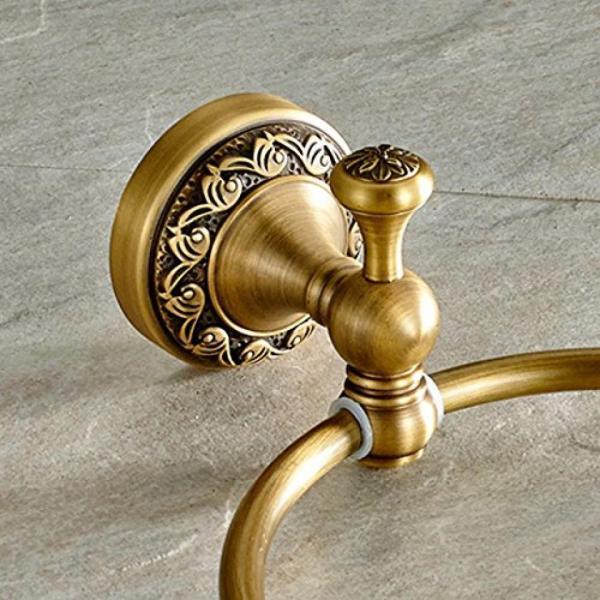タオル掛け ライデン TM タオル リング タオル ラック タオル棚洗面所アクセサリー壁マウントされた、アンティークの真鍮の仕上げ 正規輸入品 gioiore 02