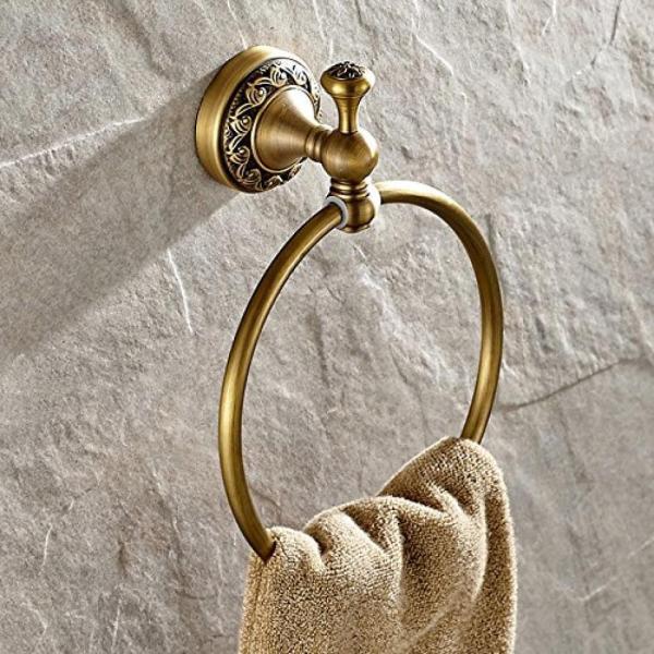 タオル掛け ライデン TM タオル リング タオル ラック タオル棚洗面所アクセサリー壁マウントされた、アンティークの真鍮の仕上げ 正規輸入品 gioiore 06