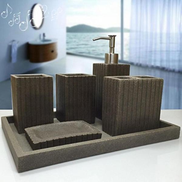 バスルーム 小物 SAEJJ-Simple European Style Bathroom Suite, Five Sets, Resin Apartment, Bathroom, High-End Toiletries Set,D 正規輸入品|gioiore