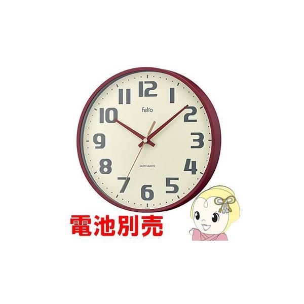 電池別売品 ノア Felio 掛け時計 チュロス レッド FEW182 R-Z