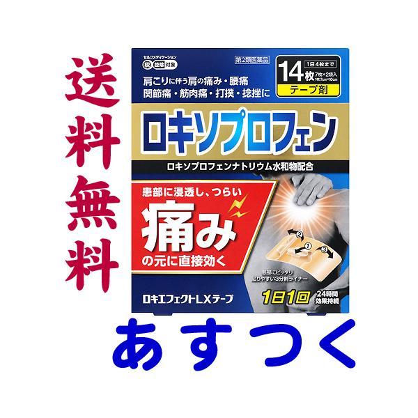 ロキエフェクトLXテープ14枚入市販薬ロキソニンテープのジェネリックロキソプロフェンNa