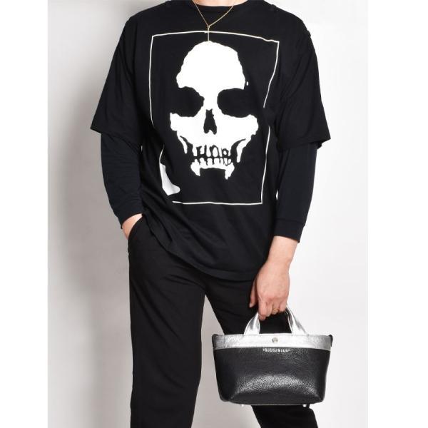 BajoLugo バジョルゴ BJLG ミニトート チビトート バッファローブラック × ゴートシルバー バッグ 鞄 レザー 日本製 黒|gios-shop|11