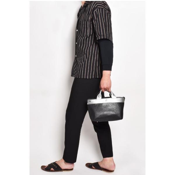 BajoLugo バジョルゴ BJLG ミニトート チビトート バッファローブラック × ゴートシルバー バッグ 鞄 レザー 日本製 黒|gios-shop|10
