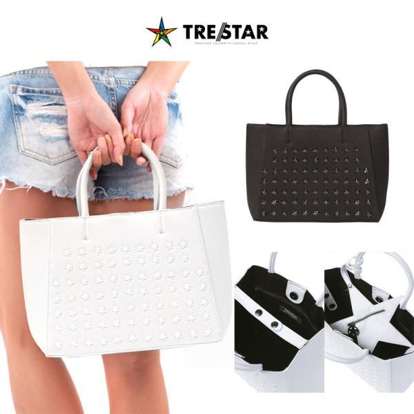 7525063506e9 トレスター 星 トートバッグ Sサイズ 鞄 スタッズ メンズ レディース 黒 白|gios-shop ...