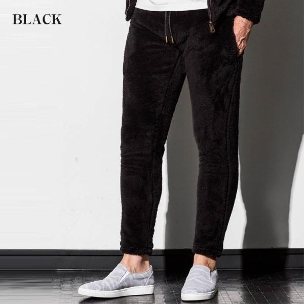 1PIU1UGUALE3 RELAX ウノピゥウノウグァーレトレ リラックス 両面ボアフリースジョガーパンツ 紺 黒 グレー メンズ|gios-shop|02