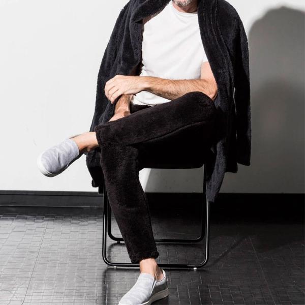 1PIU1UGUALE3 RELAX ウノピゥウノウグァーレトレ リラックス 両面ボアフリースジョガーパンツ 紺 黒 グレー メンズ|gios-shop|03