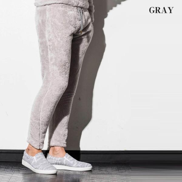 1PIU1UGUALE3 RELAX ウノピゥウノウグァーレトレ リラックス 両面ボアフリースジョガーパンツ 紺 黒 グレー メンズ|gios-shop|06