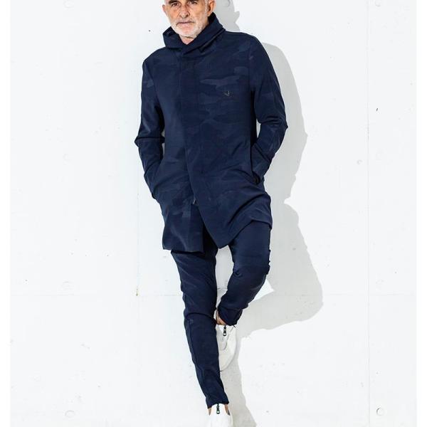 1PIU1UGUALE3 RELAX ウノピゥウノウグァーレトレ リラックス ダブルクロス4WAYストレッチサルエルパンツ 黒 カーキ 紺 迷彩 メンズ|gios-shop|03
