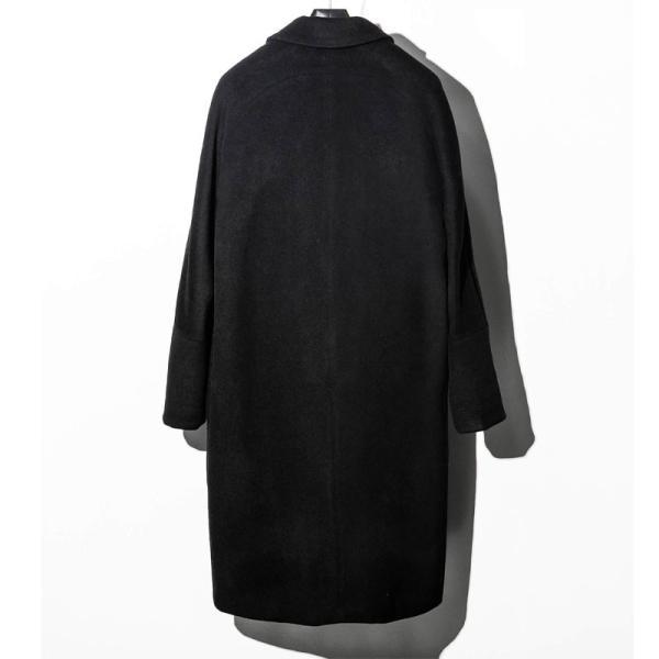 1PIU1UGUALE3 RELAX ウノピゥウノウグァーレトレ リラックス サーマル リフレックス ウール ピークド オーバーサイズ コート メンズ ジャケット アウター コート|gios-shop|11