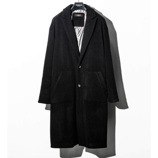 1PIU1UGUALE3 RELAX ウノピゥウノウグァーレトレ リラックス サーマル リフレックス ウール ピークド オーバーサイズ コート メンズ ジャケット アウター コート|gios-shop|10
