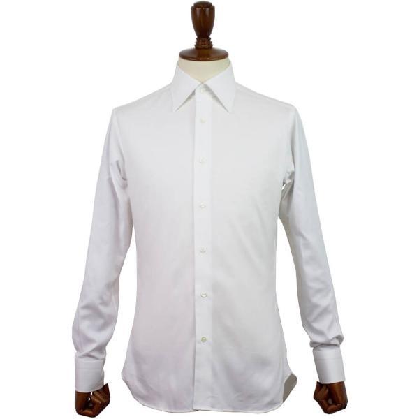 BRUNO(ブルーノ)19SS セミワイドカラー オックスフォード ドレス シャツ【ホワイト】|giottostile|03