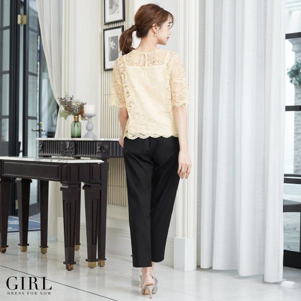 パーティードレス 結婚式 セットアップ パンツドレス 大きいサイズ 20代 30代 40代 フォーマル 通販 モデル美香着用 ロング 袖あり レディース|girl-k|06