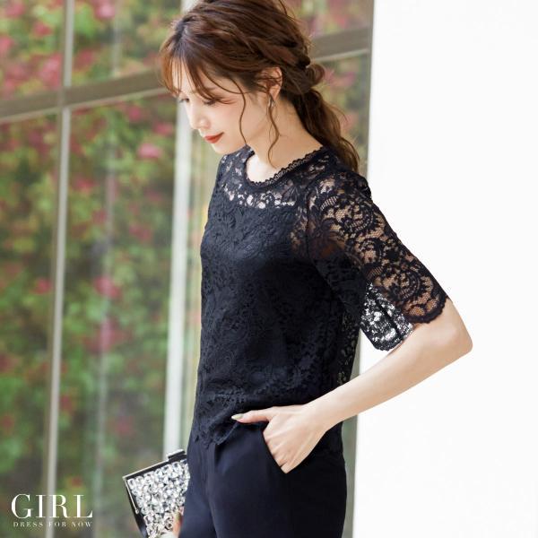 パーティードレス 結婚式 セットアップ パンツドレス 大きいサイズ 20代 30代 40代 フォーマル 通販 モデル美香着用 ロング 袖あり レディース|girl-k|08