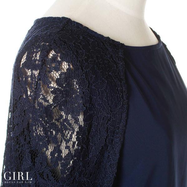 パーティードレス 結婚式 セットアップ パンツドレス 大きいサイズ 20代 30代 40代 モデル美香着用 ロング 袖あり レース フォーマル レディース|girl-k|09