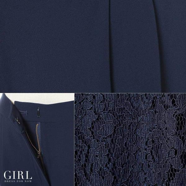 パーティードレス 結婚式 セットアップ パンツドレス 大きいサイズ 20代 30代 40代 モデル美香着用 ロング 袖あり レース フォーマル レディース|girl-k|10