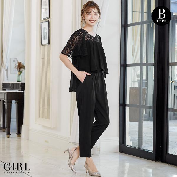 パーティードレス 結婚式 パンツドレス 大きいサイズ 20代 30代 40代 モデル美香着用 ロング フォーマル レディース|girl-k|07