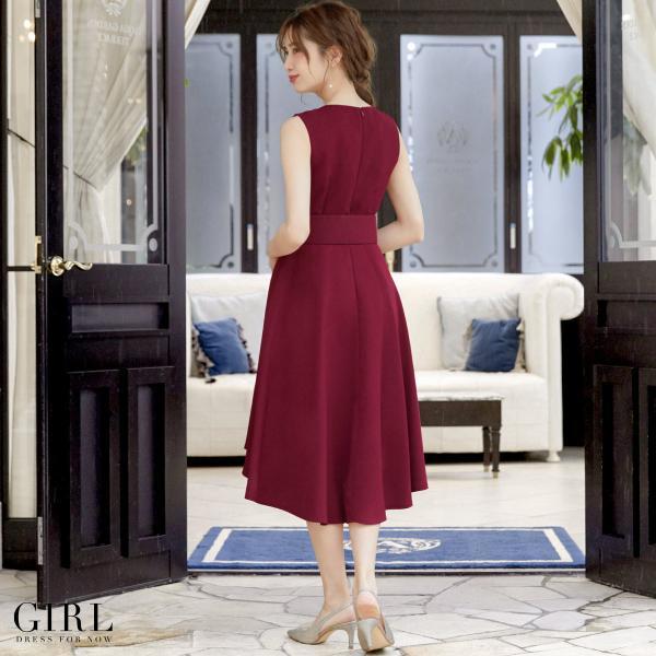 パーティードレス 結婚式 ワンピース 大きいサイズ 20代 30代 40代 モデル美香着用 フォーマル レディース フレア|girl-k|09