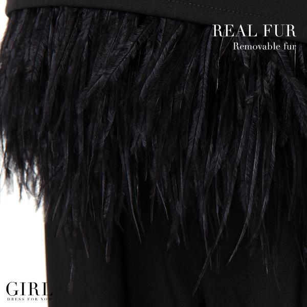パーティードレス セットアップ パンツドレス ワンピース 大きいサイズ モデル美香着用 二次会 レディース フォーマル リアルファー girl-k 05