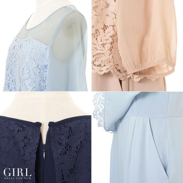 パーティードレス 結婚式 パンツドレス 大きいサイズ 20代 30代 40代 モデル美香着用 お呼ばれ オールインワン 二次会 ワイドパンツ|girl-k|06