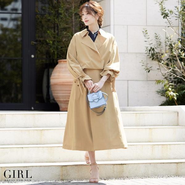 コート スプリングコート レディース アウター トレンチコート ロング 結婚式 大きいサイズ ジャケット ジレ 春 夏|girl-k|04
