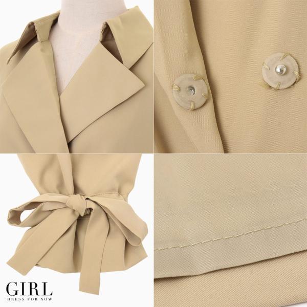 コート スプリングコート レディース アウター トレンチコート ロング 結婚式 大きいサイズ ジャケット ジレ 春 夏|girl-k|10