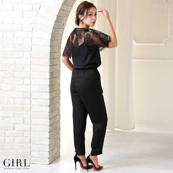 パーティードレス 結婚式 セットアップ パンツドレス 大きいサイズ 20代 30代 40代 フォーマル レディース モデル美香着用|girl-k|15