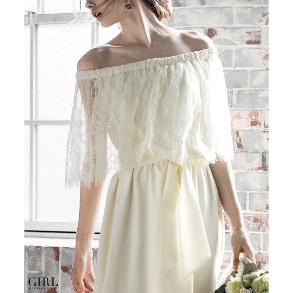 ウェディングドレス パーティードレス ドレス ワンピース 大きいサイズ 30代 20代 結婚式 二次会 花嫁 レディース 袖付き 半袖|girl-k|18