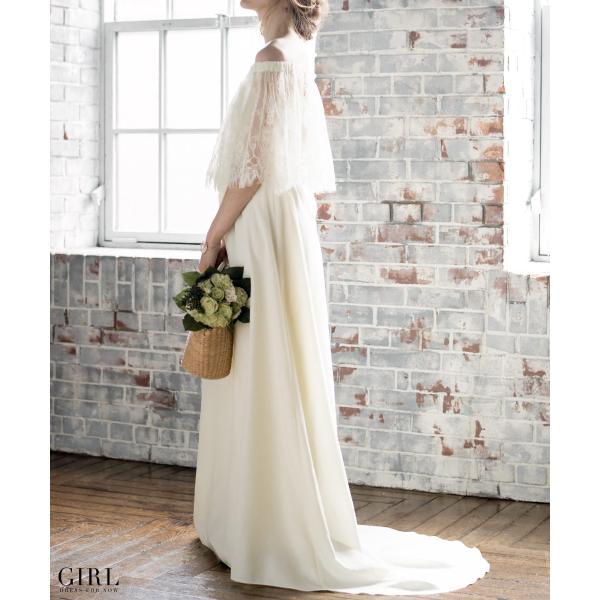 ウェディングドレス パーティードレス ドレス ワンピース 大きいサイズ 30代 20代 結婚式 二次会 花嫁 レディース 袖付き 半袖|girl-k|19