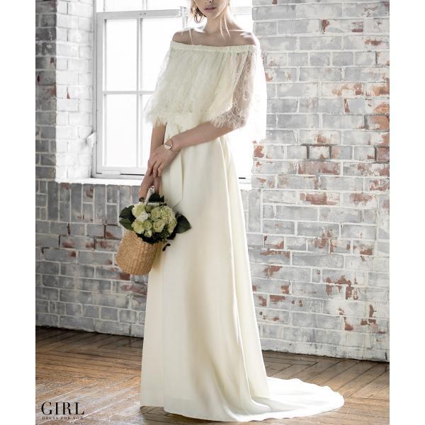 ウェディングドレス パーティードレス ドレス ワンピース 大きいサイズ 30代 20代 結婚式 二次会 花嫁 レディース 袖付き 半袖|girl-k|03