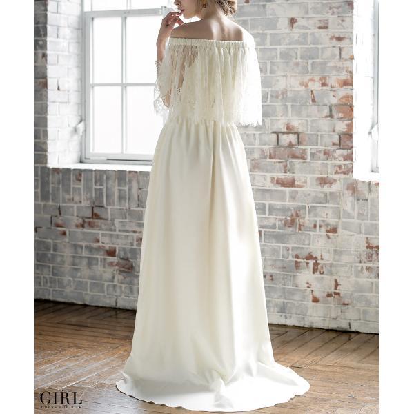ウェディングドレス パーティードレス ドレス ワンピース 大きいサイズ 30代 20代 結婚式 二次会 花嫁 レディース 袖付き 半袖|girl-k|08