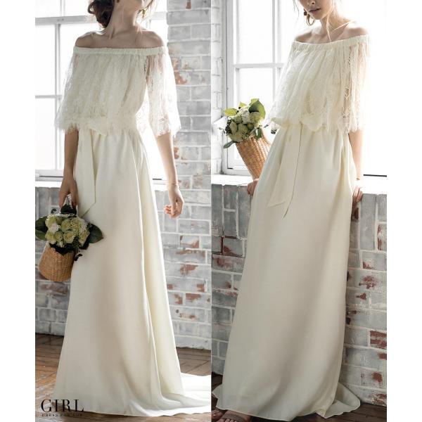 ウェディングドレス パーティードレス ドレス ワンピース 大きいサイズ 30代 20代 結婚式 二次会 花嫁 レディース 袖付き 半袖|girl-k|09