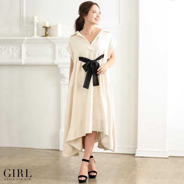 ワンピース 大きいサイズ 30代 20代 結婚式 ロングドレス ロングワンピース レディース フィッシュテール アシンメトリー イレギュラーヘム|girl-k|13