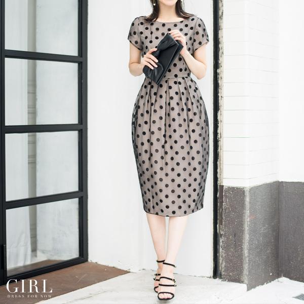 パーティードレス ドレス ワンピース 大きいサイズ 30代 20代 結婚式 ゲストドレス レディース 袖付き 半袖 ミディアム|girl-k|03
