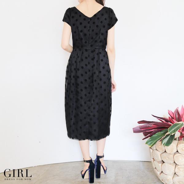 パーティードレス ドレス ワンピース 大きいサイズ 30代 20代 結婚式 ゲストドレス レディース 袖付き 半袖 ミディアム|girl-k|05