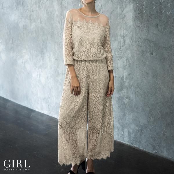 パーティードレス セットアップ パンツスタイル パンツドレス 結婚式 大きいサイズ ロング お呼ばれ 大きいサイズ パーティドレス パンツ 3点セット セット girl-k 11
