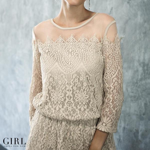 パーティードレス セットアップ パンツスタイル パンツドレス 結婚式 大きいサイズ ロング お呼ばれ 大きいサイズ パーティドレス パンツ 3点セット セット girl-k 05
