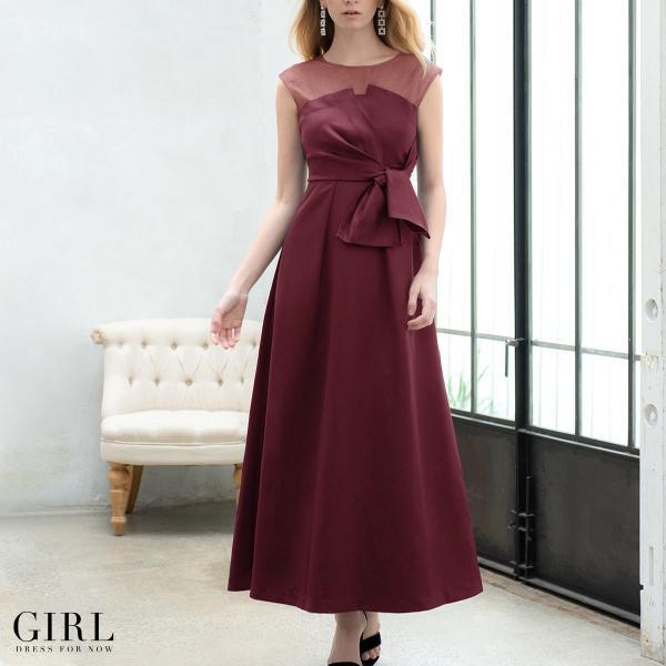 ドレス ワンピース パーティードレス 大きいサイズ お呼ばれ 20代 30代 40代 50代 結婚式 ドレス 二次会 レディース ノースリーブ ロングドレス モデル美香着用|girl-k|04