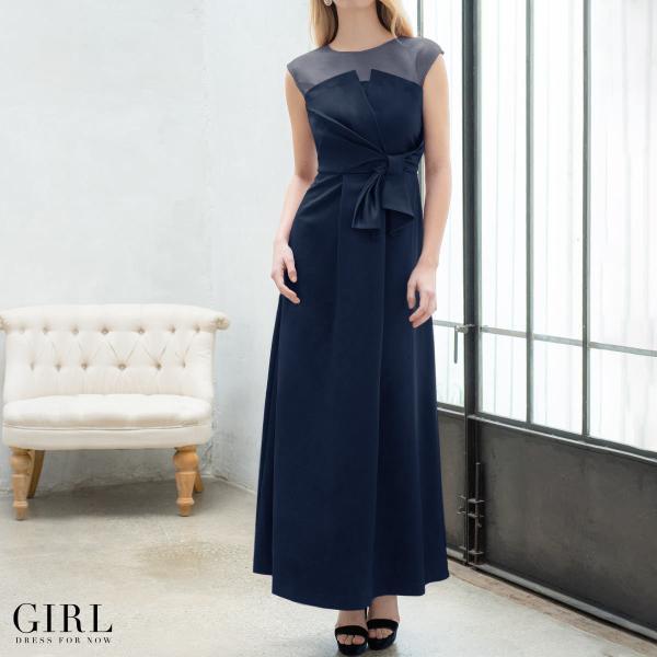 ドレス ワンピース パーティードレス 大きいサイズ お呼ばれ 20代 30代 40代 50代 結婚式 ドレス 二次会 レディース ノースリーブ ロングドレス モデル美香着用|girl-k|05