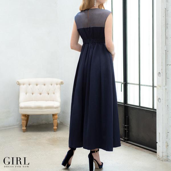 ドレス ワンピース パーティードレス 大きいサイズ お呼ばれ 20代 30代 40代 50代 結婚式 ドレス 二次会 レディース ノースリーブ ロングドレス モデル美香着用|girl-k|06