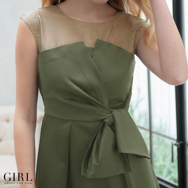 ドレス ワンピース パーティードレス 大きいサイズ お呼ばれ 20代 30代 40代 50代 結婚式 ドレス 二次会 レディース ノースリーブ ロングドレス モデル美香着用|girl-k|07