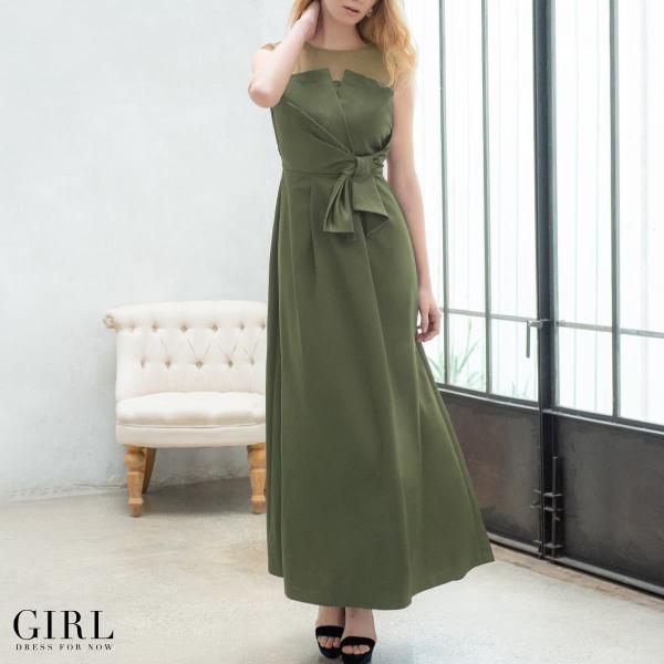 ドレス ワンピース パーティードレス 大きいサイズ お呼ばれ 20代 30代 40代 50代 結婚式 ドレス 二次会 レディース ノースリーブ ロングドレス モデル美香着用|girl-k|08