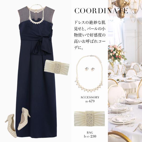 ドレス ワンピース パーティードレス 大きいサイズ お呼ばれ 20代 30代 40代 50代 結婚式 ドレス 二次会 レディース ノースリーブ ロングドレス モデル美香着用|girl-k|10
