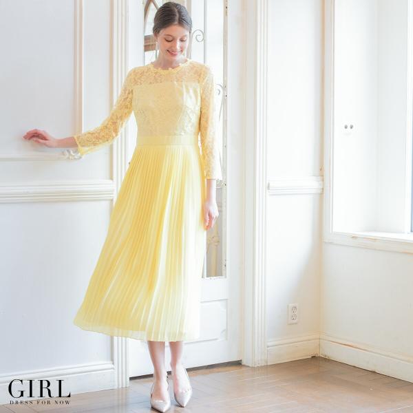 30%OFFクーポン利用で11394円 結婚式 ワンピース パーティードレス ドレス ロング丈 袖あり 大きいサイズ ゆったり ロング レース 小さい|girl-k|06