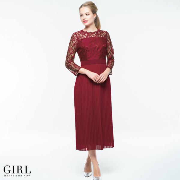 30%OFFクーポン利用で11394円 結婚式 ワンピース パーティードレス ドレス ロング丈 袖あり 大きいサイズ ゆったり ロング レース 小さい|girl-k|07