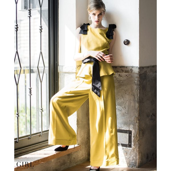 【3000円OFFクーポン利用で11990円】パーティードレス パンツスタイル パンツドレス 結婚式 大きいサイズ ロング お呼ばれ 大きいサイズ セットアップ 2点セット|girl-k|06