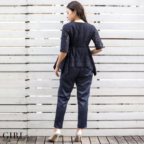 パーティードレス パンツスタイル パンツドレス 結婚式 大きいサイズ ロング お呼ばれ 大きいサイズ セットアップ 2点セット|girl-k|13