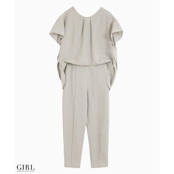 2/17まで 50%OFFクーポン利用で6990円 パーティードレス セットアップ パンツスタイル パンツドレス 結婚式 大きいサイズ ロング パンツ 2点セット|girl-k|10